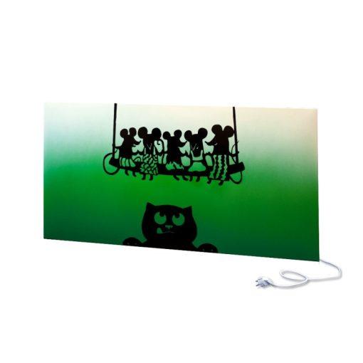 infra panel UDEN-700 konnektoros fali fix macska és egerek zöld