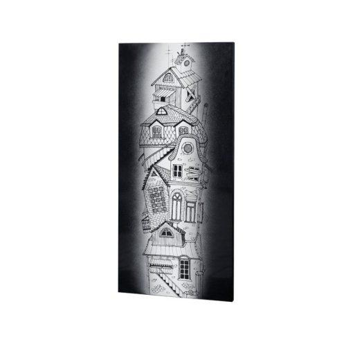 fali infra fűtőtest UDEN-700 beköthető (dugvillás kábel nélkül) fali fix ház