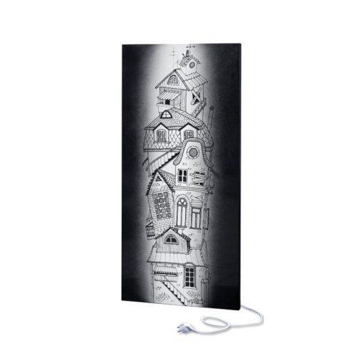 fali infra fűtőtest UDEN-700 konnektoros fix ház