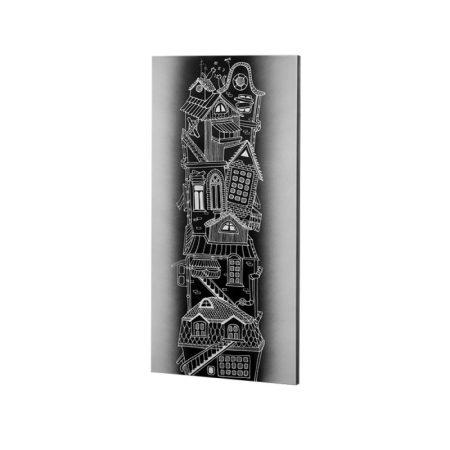 infra konvektor UDEN-700 beköthető (dugvillás kábel nélkül) fali fix ház inverz