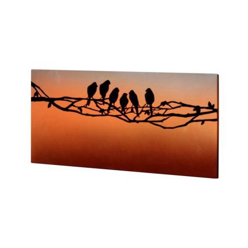 infrapanel UDEN-700 beköthető (dugvillás kábel nélkül) fali fix szerelmes madarak
